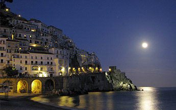Amalfi in the moonlight