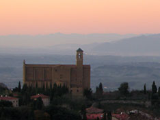 Looking out from Volterra