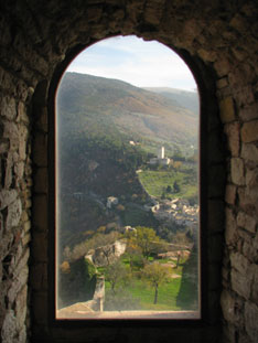 Looking out from Rocca maggiore, Assisi