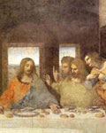 Detail, Last Supper by Leonardo da Vinci